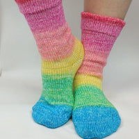 Knitcircus Yarns: Cindy Lou Who Panoramic Gradient Matching Socks Set (large), Greatest of Ease, ready to ship yarn