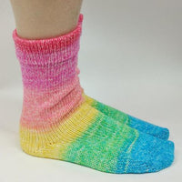 Knitcircus Yarns: Cindy Lou Who Panoramic Gradient Matching Socks Set (medium), Greatest of Ease, ready to ship yarn