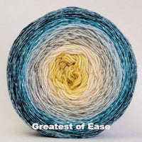 Knitcircus Yarns: Sea of Tranquility Panoramic Gradient, dyed to order yarn