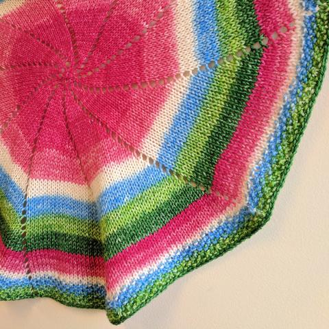 Pinwheel Baby Blanket Yarn Pack, pattern not included, dyed to order -  Knitcircus Yarns