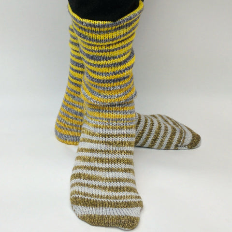 Brass and Steam Extreme Striped Matching Socks Set, dyed to order