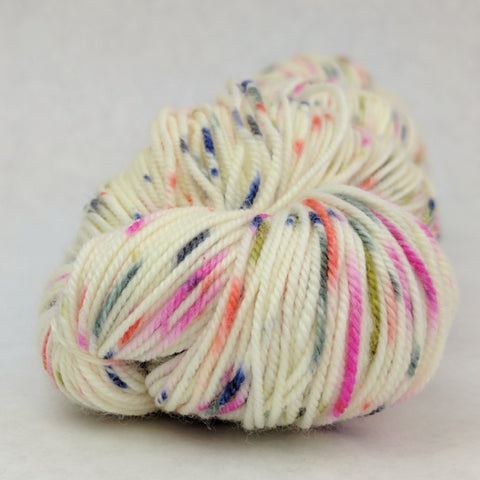 Big Top Birthday 100g Speckled Handpaint skein, Trampoline, ready to ship