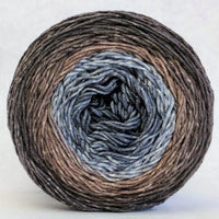 Knitcircus Yarns: Have Fun Storming the Castle 100g Panoramic Gradient, Greatest of Ease, ready to ship yarn