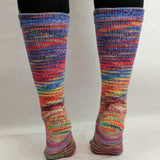 Rainbows and Unicorns Impressionist Handpaint Matching Socks Set, dyed to order
