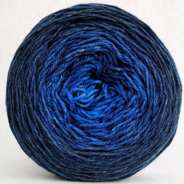 Knitcircus Yarns: Blue-nique 100g Chromatic Gradient, Opulence, ready to ship yarn