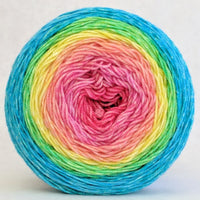 Knitcircus Yarns: Cindy Lou Who 100g Panoramic Gradient, Trampoline, ready to ship yarn