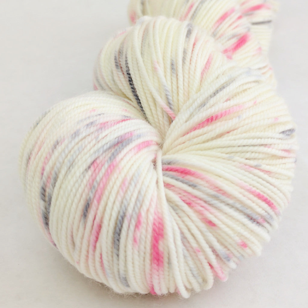 Come What May 100g Speckled Handpaint skein, Trampoline, ready to ship