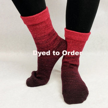Knitcircus Yarns: Vampire Boyfriend Chromatic Gradient Matching Socks Set, dyed to order yarn