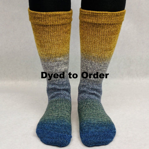 Pardon Me, Sir Panoramic Gradient Matching Socks Set, dyed to order