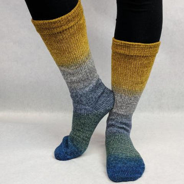 Knitcircus Yarns: Pardon Me, Sir Panoramic Gradient Matching Socks Set (medium), Greatest of Ease, ready to ship yarn
