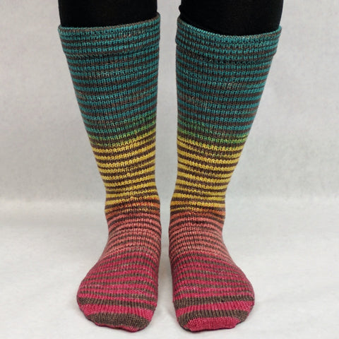 Circus Extreme Striped Matching Socks Set, dyed to order
