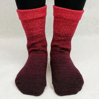 Knitcircus Yarns: Vampire Boyfriend Chromatic Gradient Matching Socks Set (large), Greatest of Ease, ready to ship yarn