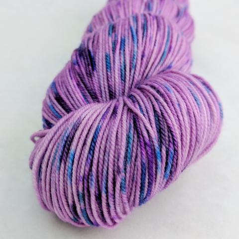 The Knit Sky 100g Speckled Handpaint skein, Trampoline, ready to ship