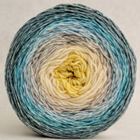 Knitcircus Yarns: Sea of Tranquility 100g Panoramic Gradient, Parasol, ready to ship yarn
