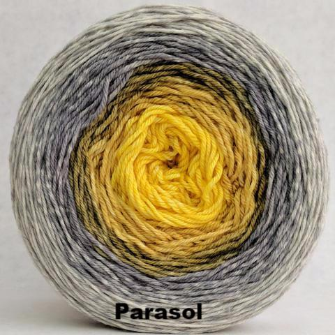 Knitcircus Yarns: Brass and Steam Panoramic Gradient, dyed to order yarn