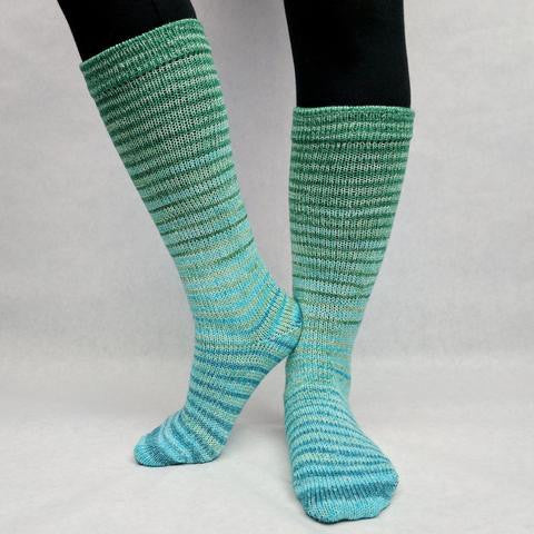 Kentucky Bluegrass Gradient Striped Matching Socks Set (medium), Greatest of Ease, ready to ship