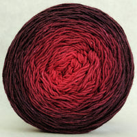Knitcircus Yarns: Vampire Boyfriend 150g Chromatic Gradient, Greatest of Ease, ready to ship yarn