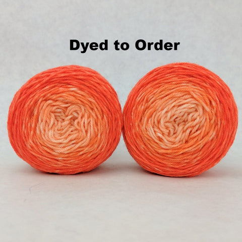 Orange You Glad Chromatic Gradient Matching Socks Set, dyed to order