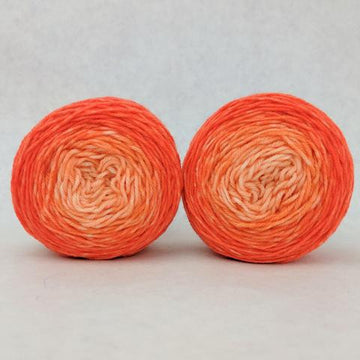Knitcircus Yarns: Orange You Glad Chromatic Gradient Matching Socks Set (medium), Greatest of Ease, ready to ship yarn