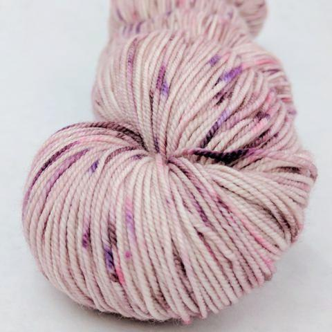 Knitcircus Yarns: Fig and Prosciutto 100g Speckled Handpaint skein, Trampoline, ready to ship yarn