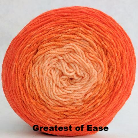 Knitcircus Yarns: Orange You Glad Chromatic Gradient, dyed to order yarn