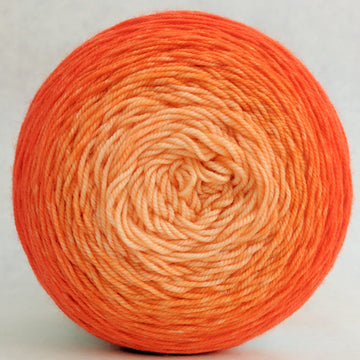 Knitcircus Yarns: Orange You Glad 100g Chromatic Gradient, Trampoline, ready to ship yarn