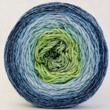 Knitcircus Yarns: Beach Glass 100g Panoramic Gradient, Opulence, ready to ship yarn