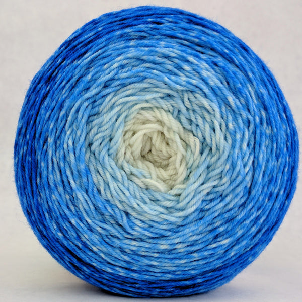 Knitcircus Yarns: Tangled Up In Blue 150g Chromatic Gradient, Greatest of Ease, ready to ship