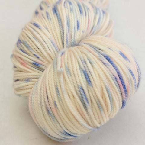 Springtime in Paris 100g Speckled Handpaint skein, Trampoline, ready to ship
