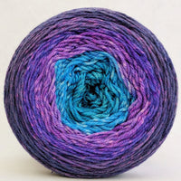 Knitcircus Yarns: The Knit Sky 100g Panoramic Gradient, Parasol, ready to ship yarn