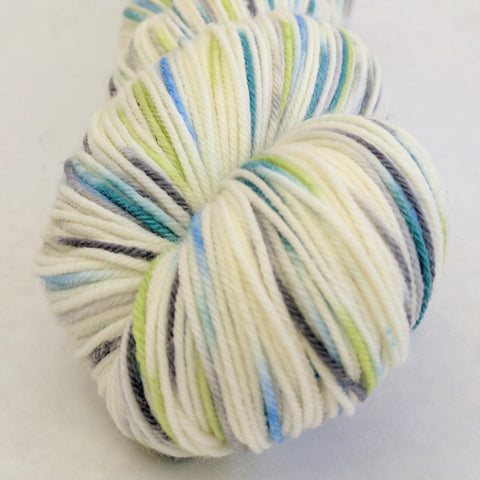 Growing Like A Weed 100g Speckled Handpaint skein, Greatest of Ease, ready to ship