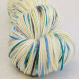 Growing Like A Weed 100g Speckled Handpaint skein, Trampoline, ready to ship