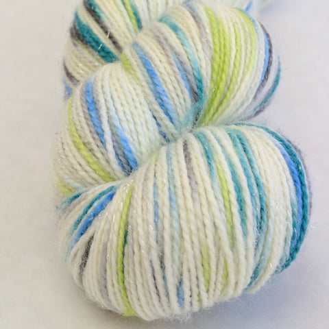 Growing Like A Weed 100g Speckled Handpaint skein, Fairy Dust, ready to ship