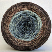 Knitcircus Yarns: Have Fun Storming the Castle 150g Panoramic Gradient, Trampoline, ready to ship yarn