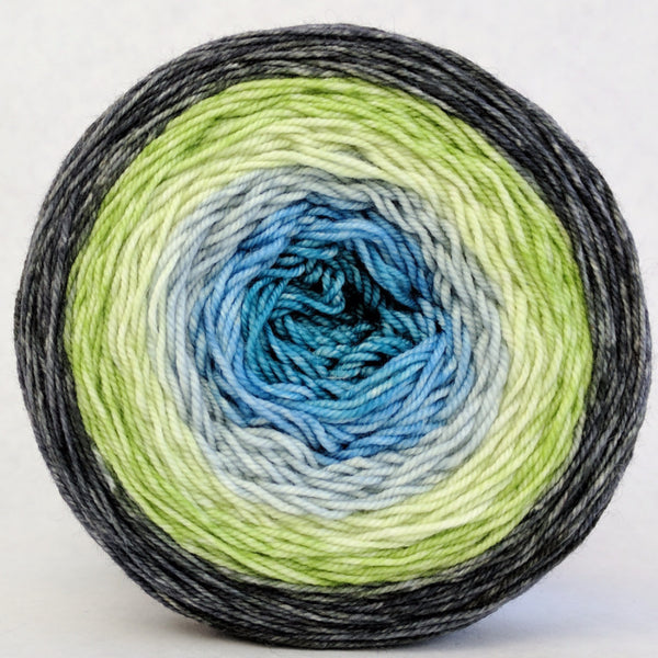 Knitcircus Yarns: Growing Like A Weed 150g Panoramic Gradient, Trampoline, ready to ship yarn