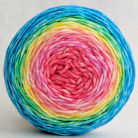 Knitcircus Yarns: Cindy Lou Who 50g Panoramic Gradient, Greatest of Ease, ready to ship yarn