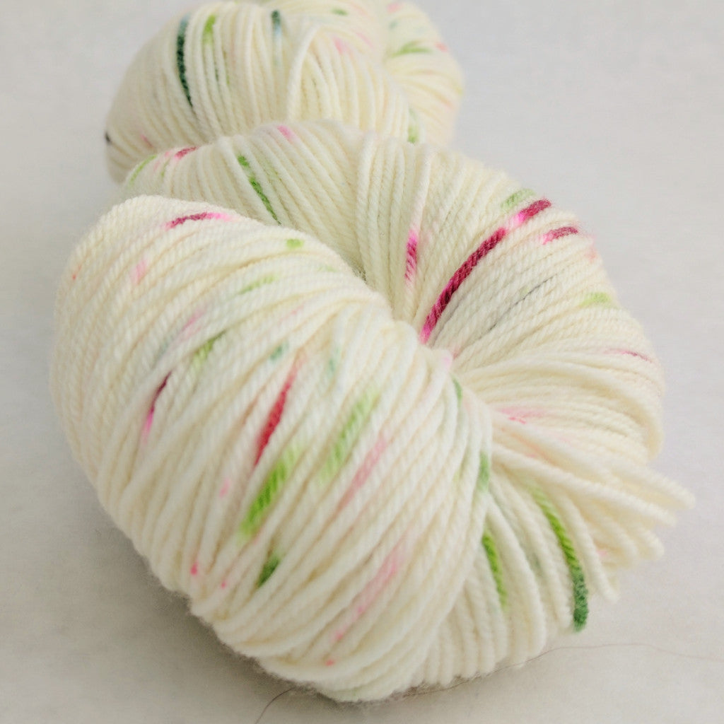 Watermelon 100g Speckled Handpaint, Greatest of Ease, ready to ship