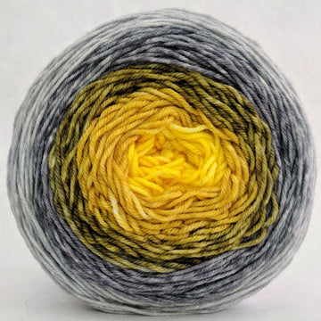 Knitcircus Yarns: Brass and Steam 100g Panoramic Gradient, Greatest of Ease, ready to ship yarn