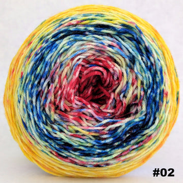 Knitcircus Yarns: Pippi Longstocking 100g Impressionist Gradient, Greatest of Ease, choose your cake, ready to ship yarn