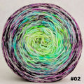 Knitcircus Yarns: Electric Mayhem 150g Impressionist Gradient, Greatest of Ease, choose your cake, ready to ship yarn