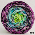 Knitcircus Yarns: Electric Mayhem 100g Impressionist Gradient, Ringmaster, choose your cake, ready to ship yarn