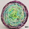 Knitcircus Yarns: Electric Mayhem 100g Impressionist Gradient, Trampoline, choose your cake, ready to ship yarn