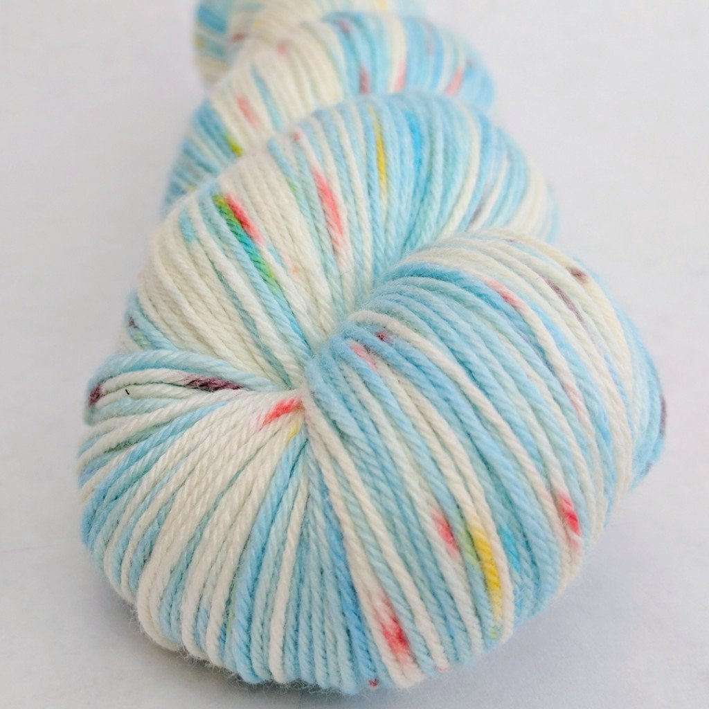 Into the Mystic 100g Speckled Handpaint skein, Parasol, ready to ship