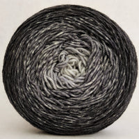 Knitcircus Yarns: Shades of Gray 100g Chromatic Gradient, Greatest of Ease, ready to ship yarn