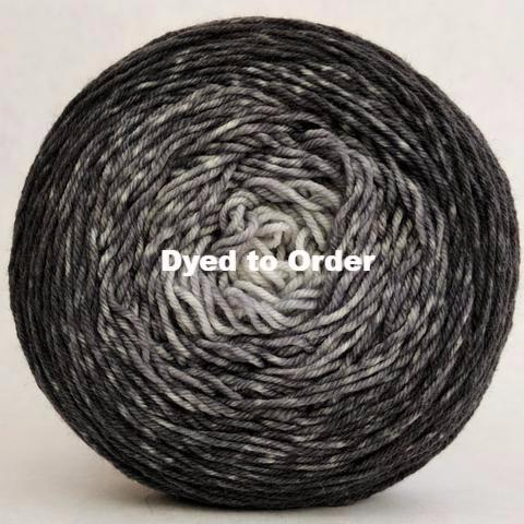 Knitcircus Yarns: Shades of Gray Chromatic Gradient, dyed to order yarn