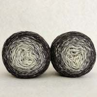 Knitcircus Yarns: Shades of Gray Chromatic Gradient Matching Socks Set (medium), Greatest of Ease, ready to ship yarn