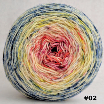 Knitcircus Yarns: Easy Peasy Lemon Squeezy 150g Impressionist Gradient, Trampoline, choose your cake, ready to ship yarn