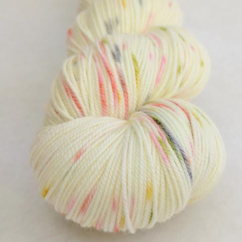 Moonrise Kingdom 100g Speckled Handpaint skein, Trampoline, ready to ship