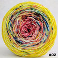 Knitcircus Yarns: Pippi Longstocking 100g Impressionist Gradient, Trampoline, choose your cake, ready to ship yarn