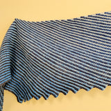 Hitchhiker Shawl in Garter Stripes Yarn Pack, dyed to order